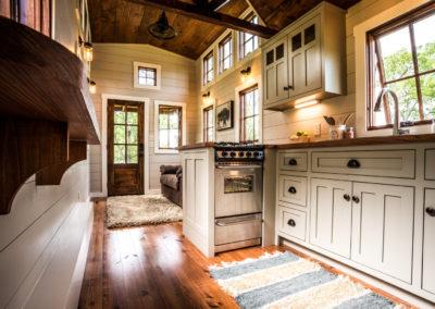 Denali tiny home kitchen cabinets