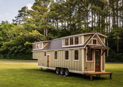 Denali tiny home rear porch
