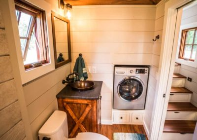 Washer dryer combo in tiny home